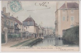 IS SUR TILLE : RUE HOPITAL NICOLAS - LE BIEF - ECRITE EN 1905 - 2 SCANS -