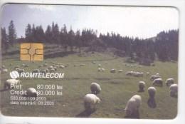 Romania   , Phonecard   ,   Lighthouses ,  Animals , Sheeps , Used - Lighthouses