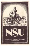 Original Werbung - 1928 - NSU , Motorrad , Neckarsulm , Moto , Motorräder !!! - Motorräder