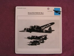 BRISTOL Blenheim MK 1  Bombardier   FICHE AVION Avec Description  Aircraft Aviation - Airplanes