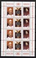 HB 12 TIMBRES VATICAN 2012 DOSSIER SECRET VATICAN - LE PAPE BENOÎT XVI - Nuevos