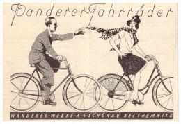Original Werbung - 1928 - Wanderer Fahrrad In Schönau B. Chemnitz , Fahrräder , Bicycle !!! - Transport