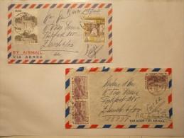Marcophilie - Lot 2 Lettres Enveloppes Obliterations PEROU (11/12) - Peru