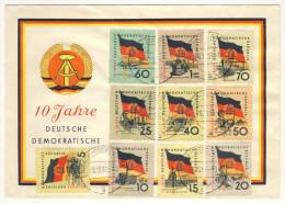 DDR Michel No. 722 - 731 FDC