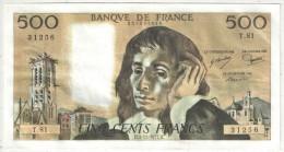 500 F Pascal - 3-11-1977 - T 81 31256 - 1962-1997 ''Francs''