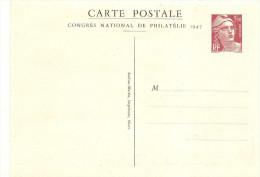 France  Carte Postale Commemorative Congrés Philatelique Niort 1947 Les 2 Cartes Neuves Ref Storch N° E3 A Et E3b - Ganzsachen