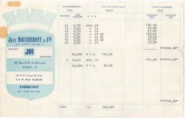 75 PARIS  FACTURE 1966 Souvenir Cuiller JM Jean MOUCHERONT & Cie Fabricant     - B27 - 1950 - ...