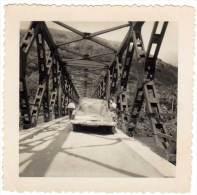 Photo, Automobile Américaine à Identifier, Usa ?, Pont Métalique - Automobiles