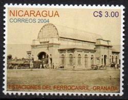 Nicaragua Mi. 2611 Bahnhof Granada  **/MNH - Treni