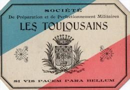 VP1315  - MILITARIA - Carte De La Société De Préparation Militaire Tir - TOULOUSE - Cartes