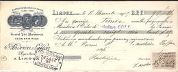 11 . AUDE . LIMOUX . ETS ANDRIEUX LAFFON . 1905 .    GRAND VIN MOUSSEUX - Bills Of Exchange