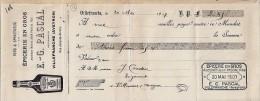 12 . AVEYRON . VILLEFRANCHE . ETS PASCAL . 1907 .   EPICERIE VINS SPIRITUEUX - Bills Of Exchange