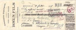 13 . BOUCHES DU RHONE . CHATEAURENARD .  ETS BRUN FILS .  1917 . FRUITS LEGUMES - Bills Of Exchange