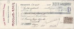 13 . BOUCHES DU RHONE . CHATEAURENARD .  ETS MOULIN ROUX .  1912 . FRUITS LEGUMES - Bills Of Exchange