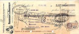 13 . BOUCHES DU RHONE . LAMBESC .  ETS BARBIER DAUPHIN .  1932 . CONSERVES ALIMENTAIRES - Bills Of Exchange