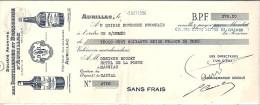 15 . CANTAL . AURILLAC . ETS DISTILLERIES ET BRASSERIES  . 1936 . LIQUEURS ET SIROPS - Lettres De Change