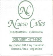 NAPKIN PAPEL SERVILLETA PAPER SERVIETTE  - NUEVO CALLAO RESTAURANT CONFITERIA AVENIDA CALLAO ESQUINA TUCUMAN BUENOS AIRE - Company Logo Napkins