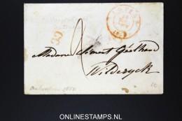 Belgium: Cover From Antwerpen Anvers To Winterswijk  1850  CC In Red Wax Sealed - 1830-1849 (Belgique Indépendante)