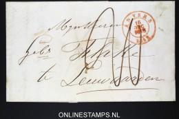 Belgium: Letter From Antwerpen Anvers To Leeuwarden  1852 - 1830-1849 (Belgique Indépendante)