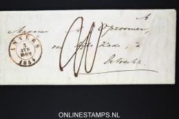 Belgium: Letter From Antwerpen / Anvers To Utrecht  1854 From Prof. Opzoomer To His Wife - 1830-1849 (Belgique Indépendante)