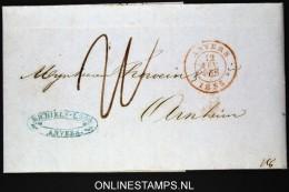 Belgium: Letter From Antwerpen / Anvers To Arnhem  1855 - 1830-1849 (Belgique Indépendante)
