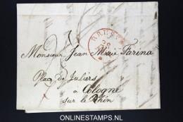 Belgium: Letter Brussels To Cologne Cöln, 1830 Bruxelles In Red - 1830-1849 (Onafhankelijk België)