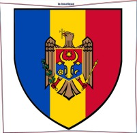 MOLDAVIA MOLDOVA MOLDAVIE Moldau AUTOCOLLANT STICKERS Coat Of Arms HERALDRY FLAG ECUSSON 8cm - Souvenirs