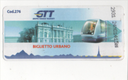 Alt638 N.2 Biglietto Autobus Metro Ticket Bus, Billet Torino Turin Piemonte GTT Castello Parco Valentino Palazzo Madama - Autobus