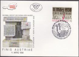 AUTRICHE : FDC :  La Fin De L'Autriche Cinquantenaire De L'Anschluss - FDC