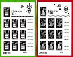 Australia 2014 Christmas Embellished Foil Sheetlets MNH - Ongebruikt