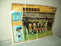 Poster Squadra Messico  Ai Mondiali Di Calcio In Argentina 78 - Non Classificati