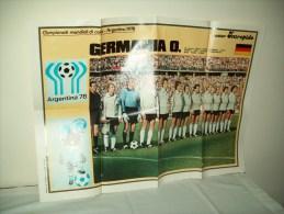 Poster Squadra Germania O.  Ai Mondiali Di Calcio In Argentina 78 - Non Classificati