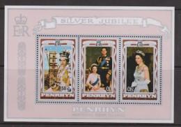 Penrhyn Island 1977 QEII Silver Jubilee Miniature Sheet MNH - Penrhyn
