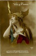 Belle Carte -    Belle  Femme   Patriotique -    Vive  La France                        C275 - Women
