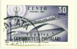 TURKEY  -  1961  Central Treaty  30k  Used As Scan - Oblitérés