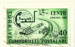 TURKEY  -  1961  Central Treaty  40k  Used As Scan - Oblitérés