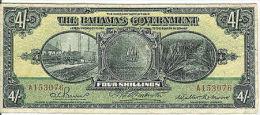 Bahamas 4 Shillings L.1919, P.2_F- - Bahamas