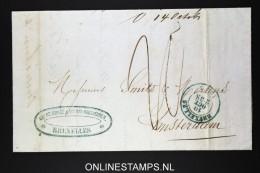 Belgium: Cover Brussels To Amsterdam 1853 - 1830-1849 (Belgique Indépendante)