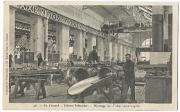 LE CREUSOT (Saône Et Loire) Usines Schneider - Montage Des Tubes Lance-torpille - Animée - Le Creusot