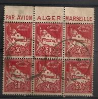 Timbre à Bande Publicitaire Algérie Mosquée De La Pêcherie 50 C Rouge N° 79A. Carnet Pub Publicité - Sin Clasificación