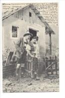 11581 -  Couple Tyrolien Chasseur Et Sa Femme Devant Maison Par Fec.Ch. Scolik Wien - Paare