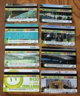 Lot De 8 Tickets Transport Saint-Etienne - Europe