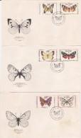 Czechoslovakia 1966 Butterflies FDCs - FDC