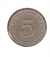 PANAMA 5 CENTESIMOS 1929 KM9 - Panama