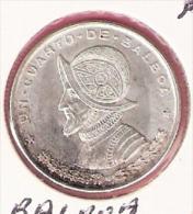 PANAMA 1/4 BALBOA 1961 SILVER KM25 - Panama