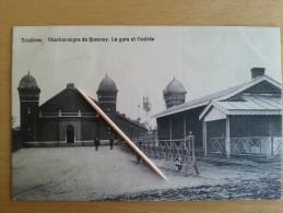 TRIVIERES _ Charbonnages du Quesnoy - la gare et l'entr�e
