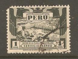 PERU    Scott  # C 57 VF USED (short Corner Perf. Top Left) - Peru