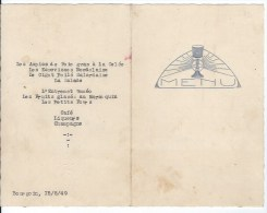 MENU 1949 Bourgoin - Menus