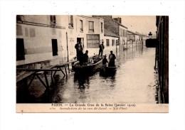 Paris , Inondation De La Rue De Javel - Paris Flood, 1910