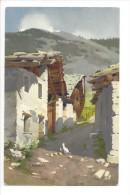 11598 -  Une Rue à Entrèves (Courmayeur) Poule Et Poussins Signé Bonelli - Italia